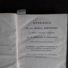 Libros antiguos: ASTARLOA. APOLOGÍA DE LA LENGUA BASCONGADA. EUSKERA. LENGUA VASCA. PAIS VASCO.. Lote 151940646