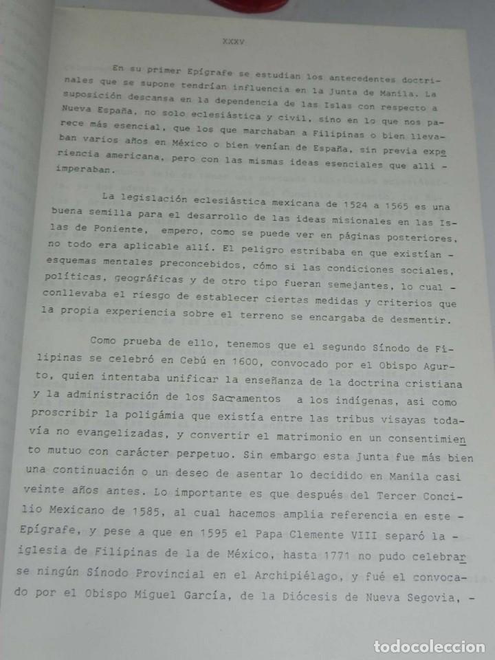 Libros antiguos: José Luis PORRAS CAMUÑEZ, La posición de la Iglesia y su lucha por los derechos del indio filipino - Foto 5 - 151948702