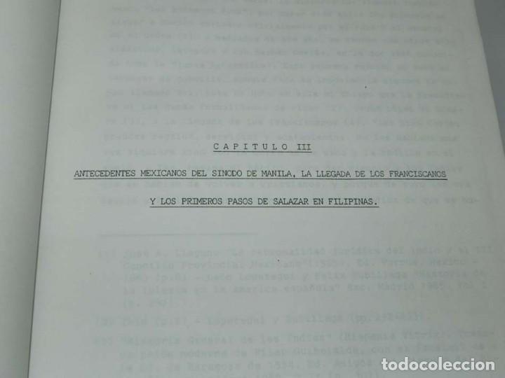 Libros antiguos: José Luis PORRAS CAMUÑEZ, La posición de la Iglesia y su lucha por los derechos del indio filipino - Foto 7 - 151948702