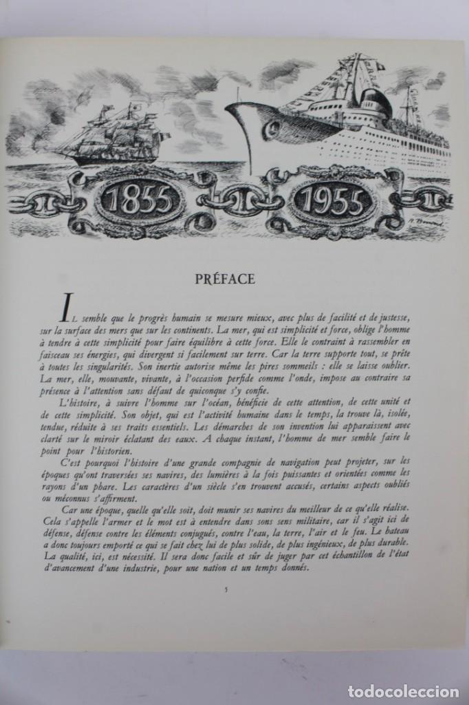 Alte Bücher: L-2366 HISTOIRE DE LA COMPAGNIE GENERALE TRANSATLANTIQUE. ROGER VERCEL.ED METIERS GRAPHIQUE AÑO 1955 - Foto 5 - 152004498