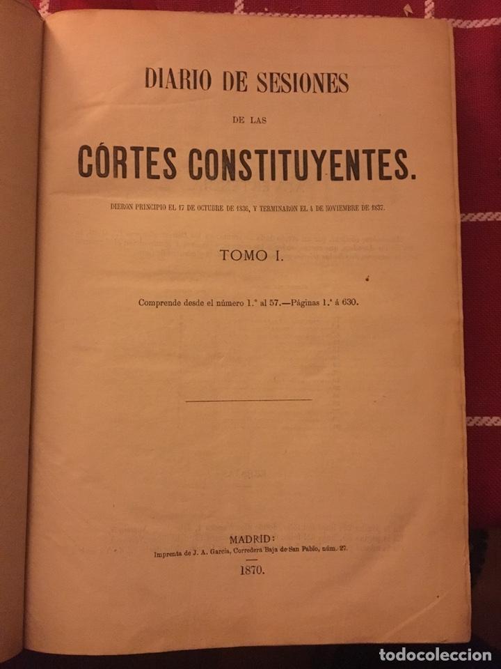 DIARIO DE SESIONES DE LAS CORTES CONSTITUYENTES (Libros Antiguos, Raros y Curiosos - Historia - Otros)