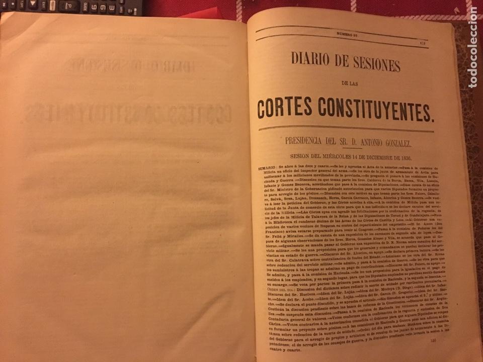 Libros antiguos: Diario de sesiones de las cortes constituyentes - Foto 3 - 152019086