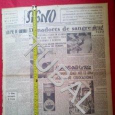 Libros antiguos: TUBAL 1941 EUGENIO ARIZCUN TRIUNFA EN LA DIVISION AZUL SIGNO SEMANARIO TAMAÑO GIGANTE 29 NOVIEMBRE. Lote 152024994