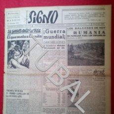 Libros antiguos: TUBAL 1941 PRIMER CAPELLAN TRIUNFA EN LA DIVISION AZUL SIGNO SEMANARIO TAMAÑO GIGANTE 13 DICIEMBRE. Lote 152025946