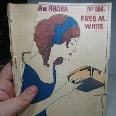 Libros antiguos: LA DAGA MISTERIOSA, NOVELA DE AHORA 196, FRED WHITE (PORTADA ROTA Y SUELTA). Lote 152056044