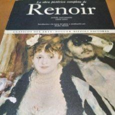 Libros antiguos: LA OBRA PICTÓRICA COMPLETA DE RENOIR. Lote 152141318