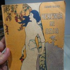 Libros antiguos: HERENCIA DE ODIO, LA NOVELA DE AHORA 186. Lote 152228724