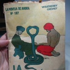 Libros antiguos: LA MALDICIÓN DE SIVA, NOVELA DE AHORA 197,WEATHERBY CHESNEY. Lote 152229506