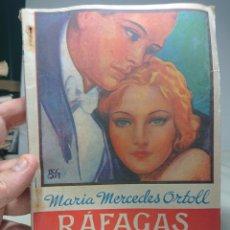 Libros antiguos: RÁFAGAS DEL PASADO, MARÍA MERCEDES ORTOLL, NOVELA ROSA 54. Lote 152232288