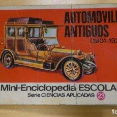 Libros antiguos: MINI ENCICLOPEDIA ESCOLAR . SERIE CIENCAS APLICADAS 23 . AUTOMOVILES ANTIGUOS . BRUGUERA . Lote 152275898