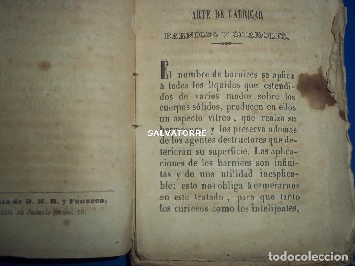 Libros antiguos: SECRETOS ARTES Y OFICIOS.BARNICES Y CHAROLES.MADRID,1853, - Foto 2 - 152287022