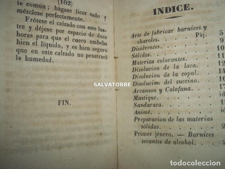 Libros antiguos: SECRETOS ARTES Y OFICIOS.BARNICES Y CHAROLES.MADRID,1853, - Foto 3 - 152287022
