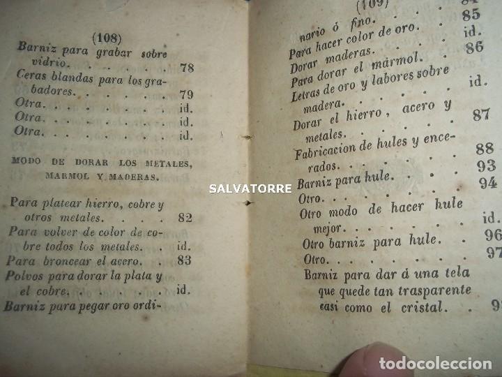 Libros antiguos: SECRETOS ARTES Y OFICIOS.BARNICES Y CHAROLES.MADRID,1853, - Foto 5 - 152287022