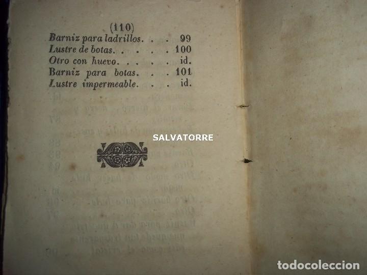 Libros antiguos: SECRETOS ARTES Y OFICIOS.BARNICES Y CHAROLES.MADRID,1853, - Foto 6 - 152287022