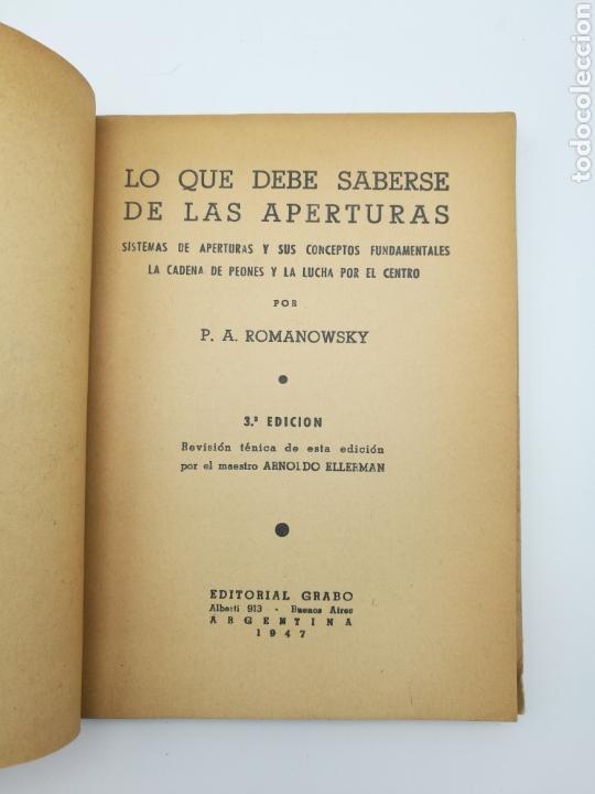 Libros antiguos: Lo que debe saber de las aperturas 1947 - Foto 2 - 152294637