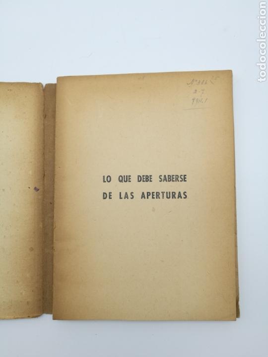 Libros antiguos: Lo que debe saber de las aperturas 1947 - Foto 3 - 152294637