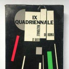 Libros antiguos: IX QUADRIENNALE NAZIONALE D´ARTE DI ROMA - 1945. Lote 152336190