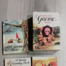 Libros antiguos: TEENY TINY GNOME TOMES (LITTLE GNOME FACTS/ A LITTLE GNOME COUNTING BOOK/ GNOMES TO THE RESCUE). Lote 152337558