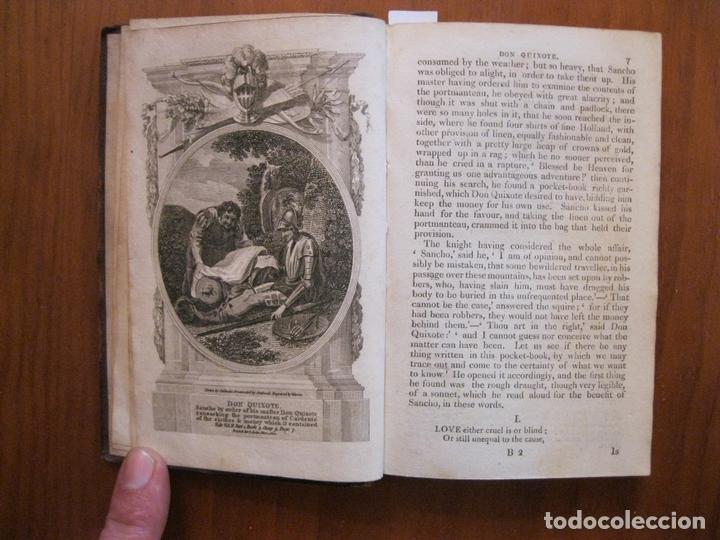 DON QUIJOTE DE LA MANCHA, 3 TOMOS, CA. 1770. CERVANTES/ SMOLLETT. CON 12 GRABADOS (Libros Antiguos, Raros y Curiosos - Literatura - Otros)