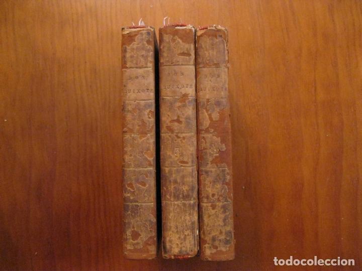 Libros antiguos: Don Quijote de La Mancha, 3 tomos, ca. 1770. Cervantes/ Smollett. Con 12 grabados - Foto 2 - 152344413