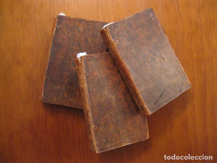 Libros antiguos: Don Quijote de La Mancha, 3 tomos, ca. 1770. Cervantes/ Smollett. Con 12 grabados - Foto 3 - 152344413