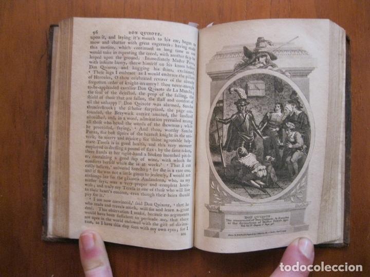 Libros antiguos: Don Quijote de La Mancha, 3 tomos, ca. 1770. Cervantes/ Smollett. Con 12 grabados - Foto 6 - 152344413
