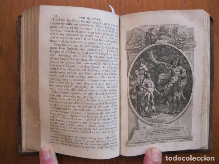 Libros antiguos: Don Quijote de La Mancha, 3 tomos, ca. 1770. Cervantes/ Smollett. Con 12 grabados - Foto 7 - 152344413