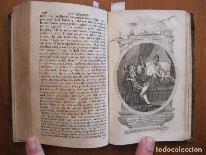 Libros antiguos: Don Quijote de La Mancha, 3 tomos, ca. 1770. Cervantes/ Smollett. Con 12 grabados - Foto 11 - 152344413