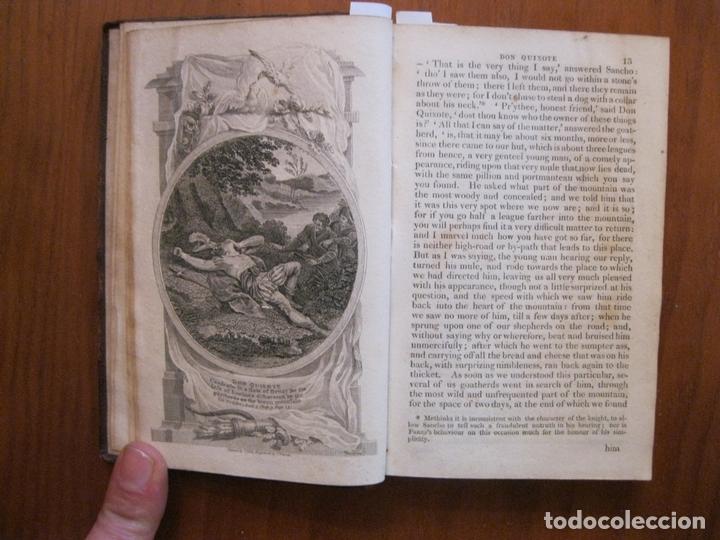 Libros antiguos: Don Quijote de La Mancha, 3 tomos, ca. 1770. Cervantes/ Smollett. Con 12 grabados - Foto 14 - 152344413