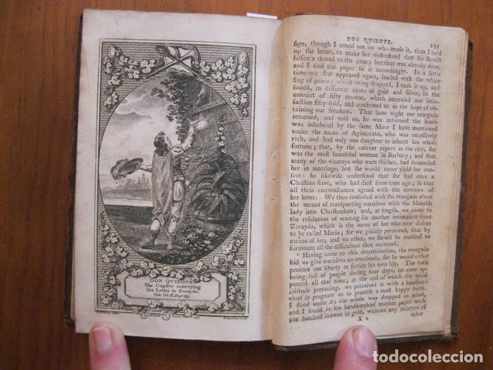 Libros antiguos: Don Quijote de La Mancha, 3 tomos, ca. 1770. Cervantes/ Smollett. Con 12 grabados - Foto 16 - 152344413