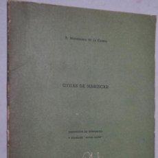Libros antiguos: UTILES DE MARISCAR. MADARIAGA DE LA CAMPA. Lote 152395418