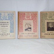 Libros antiguos: COLECCIÓN POPULAR BARCINO 3 VOLÚMENES. Lote 152438210
