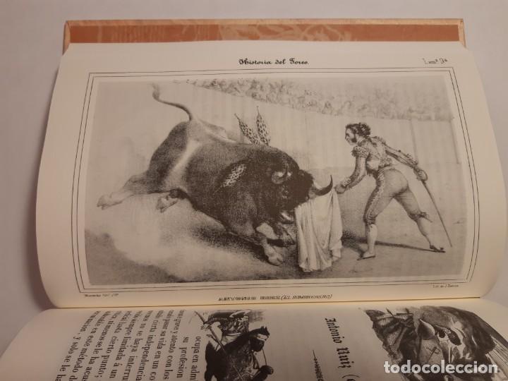 Libros antiguos: Historia del toreo y de las principales ganaderías de España, de Bedoya. Facsímil de la ed. de 1850 - Foto 5 - 176218489