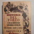 Libros antiguos: HISTORIA DEL TOREO Y DE LAS PRINCIPALES GANADERÍAS DE ESPAÑA, DE BEDOYA. FACSÍMIL DE LA ED. DE 1850. Lote 163465954