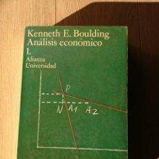 Libros antiguos: ANÁLISIS ECONÓMICO DE KENNETH E.BOULDING. Lote 152507070