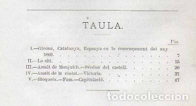 Libros antiguos: Lo siti de Girona en lo any 1809 / V. Gebhardt. BCN, 1873. 27x17cm. 64 p. - Foto 2 - 152526810