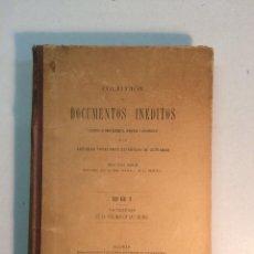 Libros antiguos: DOCUMENTOS INÉDIDOS POSESIONES ESPAÑOLAS DE ULTRAMAR. VATICINIOS PÉRDIDA DE LAS INDIAS (1899). Lote 152596078