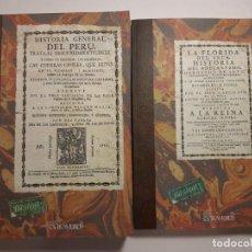 Livros antigos: 2 FACSÍMILES DE LA FLORIDA DEL INCA Y LA HISTORIA GENERAL DEL PERÚ, DEL INCA GARCILASO DE LA VEGA. Lote 220889838