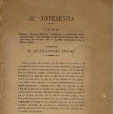 Libros antiguos: LA ESPAÑA DEL SIGLO XIX. TOMO III. CONFERENCIA 38 DEL ATENEO DE MADRID. AÑO 1888. (3.5). Lote 152613974