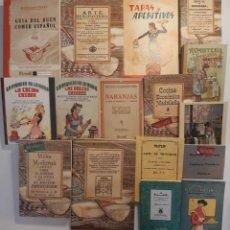 Libros antiguos: 16 LIBROS FACSÍMILES RELATIVOS A LA GASTRONOMÍA. COCINA CASERA TRADICIONAL ESPAÑOLA REPOSTERÍA. Lote 235537990
