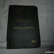 Libros antiguos: CATALOGO DE PERFILES Y LAMINADOS SOCIEDAD METALURGICA DURO-FELGUERA 1922.ALTOS HORNOS DE VIZCAYA. Lote 152700150