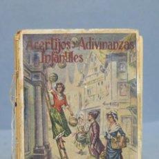 Libros antiguos: ACERTIJOS Y ADIVINANZAS INFANTILES. E. SANCHEZ RUEDA. Lote 152858122