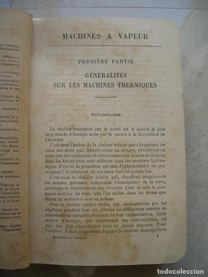 Libros antiguos: J.Dejust. Machines a vapeur et machines thermiques diverses. - Foto 5 - 152947034