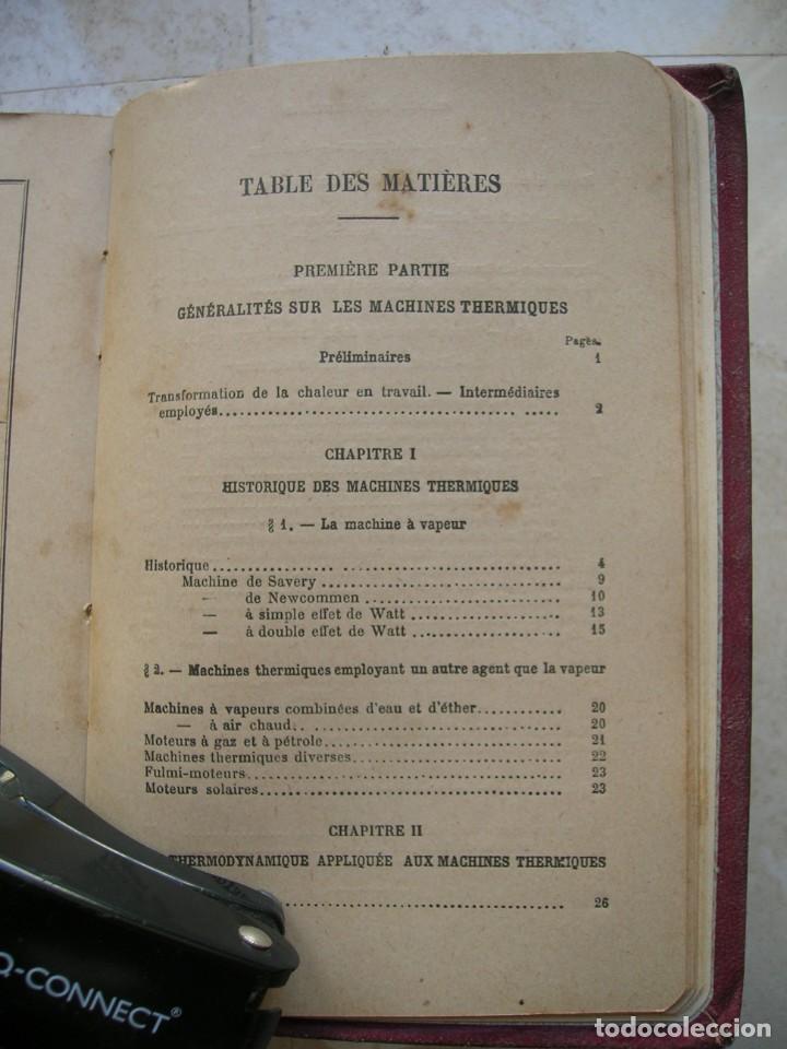 Libros antiguos: J.Dejust. Machines a vapeur et machines thermiques diverses. - Foto 9 - 152947034