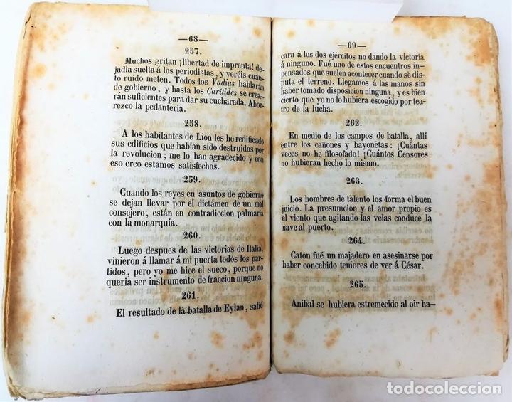 Libros antiguos: MÁXIMAS DE NAPOLEÓN. T. BELTRÁN SOLER. IMPREN. EL BARCELONÉS. BARCELONA 1850 - Foto 5 - 153082866