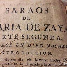 Libros antiguos: MARIA ZAYAS : NOVELAS EJEMPLARES AMOROSAS Y SARAOS S XVII. Lote 153153470