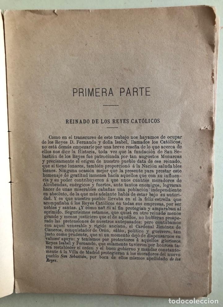 Libros antiguos: MADRID- CRONICA DE SAN SEBASTIAN DE LOS REYES- LAUREANO MONTERO GARCIA - 1.890 1 ª EDICION- RARO - Foto 2 - 153219422