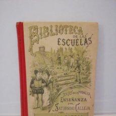 Libros antiguos: BIBLIOTECA DE LAS ESCUELAS. Lote 153235410