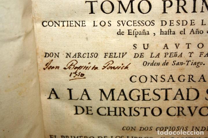 Libros antiguos: ANALES DE CATALUÑA Y EPILOGO BREVE DE LOS PROGRESSOS, Y FAMOSOS HECHOS DE LA NACION CATALANA. 1709 - Foto 4 - 153271170