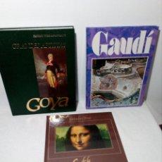 Libros antiguos: FANTÁSTICO LOTE DE 3 LIBROS GRANDES DEL ARTE (GOYA, GAUDÍ Y MUSEO DEL LOUVRE). Lote 153278234